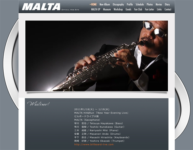 JAZZ PLAYER MALTA OFFICIAL WEB SITE